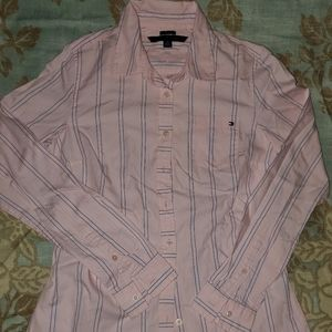 Tommy Hilfiger Pink and blue Dress Shirt size XS